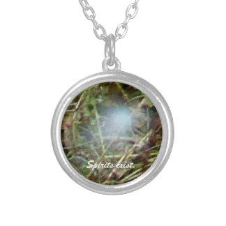 White Spirit Orb Photo Round Pendant Necklace