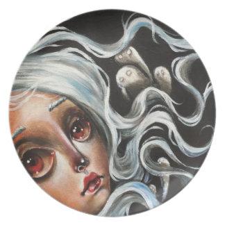 White Spirits Art Pop Surrealism Plate