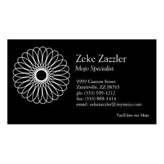 White Spirograph Business Card