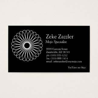 White Spirograph Business Card