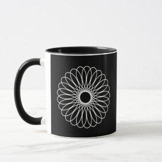 White Spirograph Mug