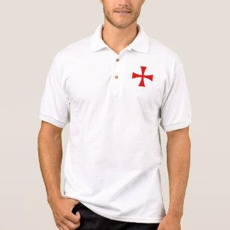 white sports shirt cross templière