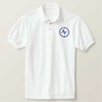 White sports shirt embroidered Alliance Fraternal