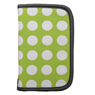 White Spots and Dots on Lime Green Planners