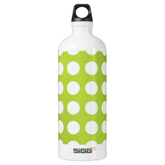 White Spots and Dots on Lime Green SIGG Traveler 1.0L Water Bottle