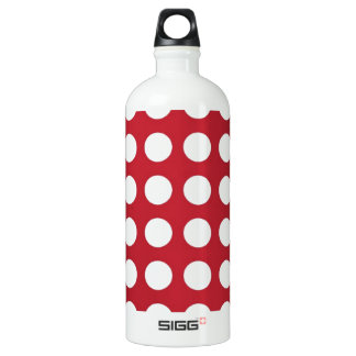 White Spots On Dark Red Aluminum Water Bottle