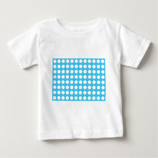 White Spots On Mid Blue Baby T-Shirt