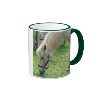 White Spotted Horse Coffee Mugs