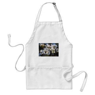 White Spring Blooming Bradford Pear Blossoms Adult Apron