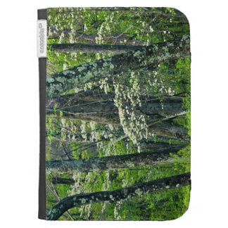 White spring blossoms amid trees kindle 3 cover