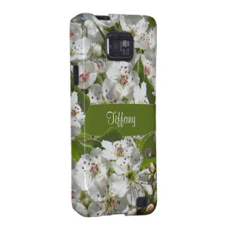 White Spring Blossoms Galaxy S2 Covers