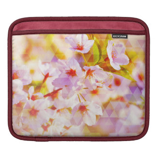 White Spring Blossoms iPad Sleeve