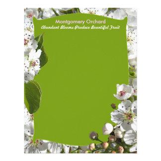 White Spring Blossoms Letterhead