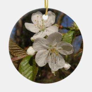 white spring ceramic ornament