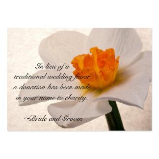 White Spring Daffodil Wedding Charity Card