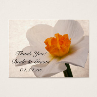 White Spring Daffodils Wedding Favor Tags