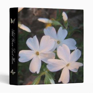 White Spring Flowers Binder