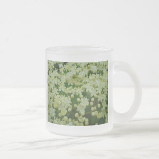 White Spring Frosted Glass Coffee Mug
