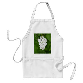 White spring lilac blossoms print adult apron