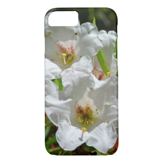 White spring rhododendrons print iphone case