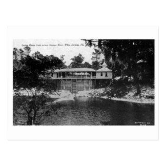 White Springs Florida Vintage Photo  the Suwannee Postcard