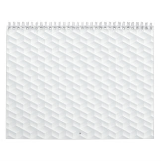 White square embossed calendar