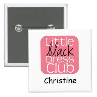 White Square Name Tag Pinback Button