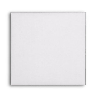 White Square Scrollwork Monogrammed Envelopes