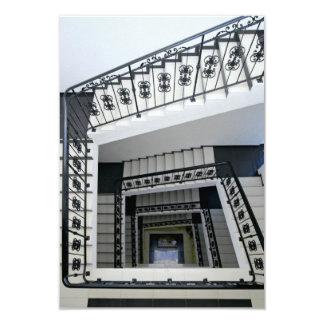 White Square Staircase 3.5x5 Paper Invitation Card