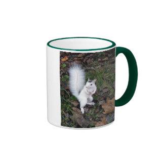 White Squirrel Ringer Coffee Mug