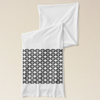 White St. Benedict Medal Scarf