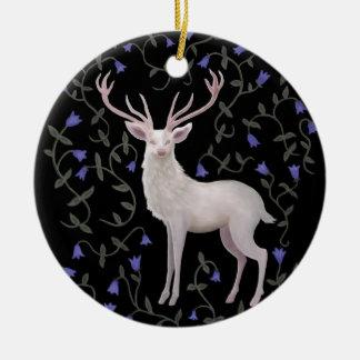 White Stag Ceramic Ornament