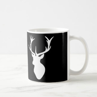 White Stag Head Coffee Mug
