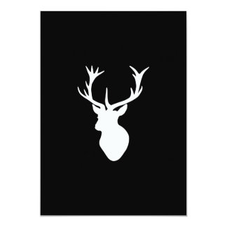 White Stag Head with Antlers Card