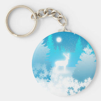 White Stag Keychain