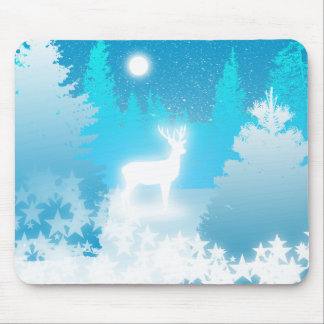 White Stag Mouse Pad
