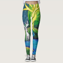 White Stag, Tree of Life Leggings