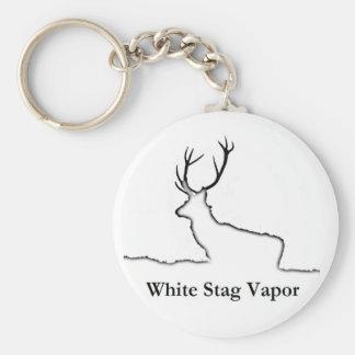 White Stag Vapor Products Basic Round Button Keychain