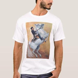 White Stallion and Rider- Dressage T-Shirt