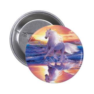 White Stallion Button