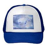 White stallion fantasy trucker hats
