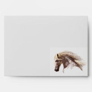 WHITE STALLION Horse Art Greeting Card Envelope