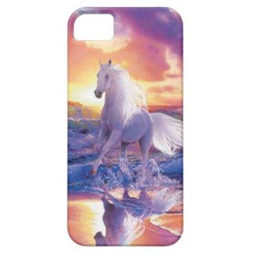 White Stallion iPhone 5G Case