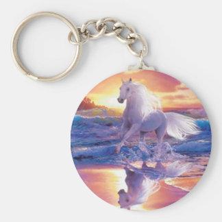 White Stallion Key Chain