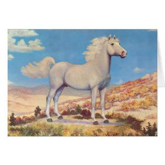 White Stallion King Of The Plains Card