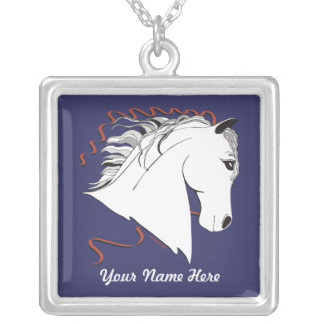 White Stallion Personalized Necklace