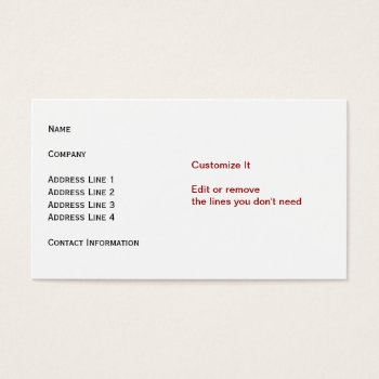 White Standard Card by DigitalDreambuilder at Zazzle