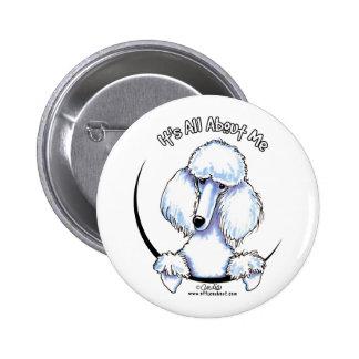 White Standard Poodle IAAM Pin