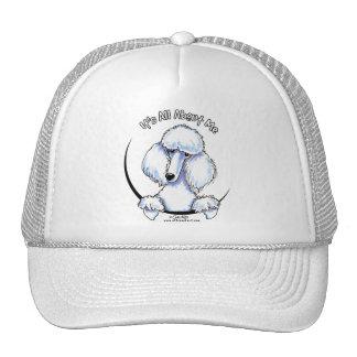 White Standard Poodle IAAM Trucker Hat