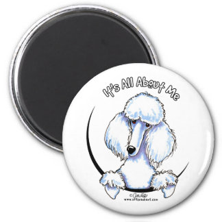 White Standard Poodle IAAM Magnet